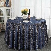 Tischdecke Hotel-Tischdecke-Tuch europäisches Gaststätte-Hotel-Tischdecke nach Maß Kaffee-Tabellen-runde runde Tisch-Tischdecke-Tischdecke ( Farbe : A , größe : 300cm )