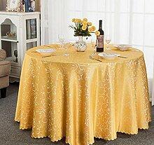 Tischdecke Hotel-Tischdecke-Tuch europäisches Gaststätte-Hotel-Tischdecke nach Maß Kaffee-Tabellen-runde runde Tisch-Tischdecke-Tischdecke ( Farbe : C , größe : 260cm )