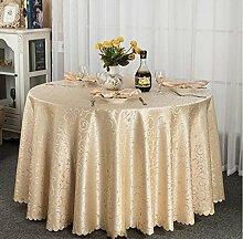 Tischdecke Hotel-Tischdecke-Tuch europäisches Gaststätte-Hotel-Tischdecke nach Maß Kaffee-Tabellen-runde runde Tisch-Tischdecke-Tischdecke ( Farbe : C , größe : 160*160cm )