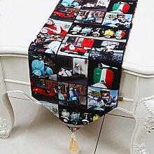 Tischdecke Im Britischen Stil/Jack Flag Tischdecke/American Country Coffee Table Cloth-F 33x300cm(13x118inch)