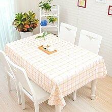 Tischdecke, im japanischen Stil kleiner Garten, frische Cartoon, Schöne karierte PVC, Kunststoff tisch Matte, Tischdecke, wasserfest, Öl, Verbrühen, Stripe Pulver, 130 * 190 cm