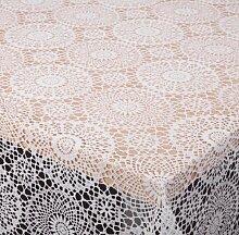 TISCHDECKE in Häkelspitze Optik, Meterware, Weiss, 290x138 cm, Länge wählbar, Beautex
