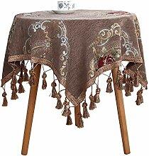 Tischdecke Jacquard mit hochwertig umsäumtem Rand