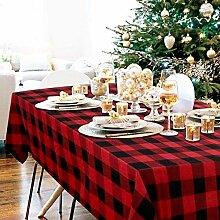 Tischdecke, kariert, mit einer Weihnachtsmaske (52