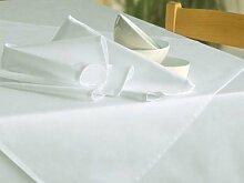 Tischdecke Klara, weiss, ohne Muster, 140x240