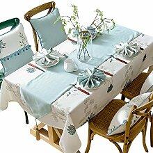 Tischdecke Kleine Blumen Baumwolle Leinen Stoff