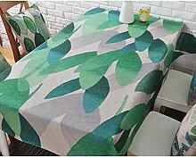 Tischdecke Kleine frische Baumwolle Leinen