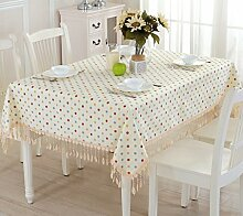 Tischdecke, Kleine Punkte Ländlichen Stil Tischdecke Couchtisch Tuch Abdeckung Handtuch Einfache Antifouling Modern ( größe : 140x180cm )