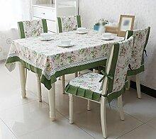 Tischdecke, Ländliche Art Baumwolle Leinen Tischdecke Spitze Kaffee Tisch Blume Lärm Reduzierung ( größe : 110x110cm )