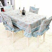 Tischdecke Längliche Tischdecke,Garten Tischdecke Tischtuch,Stoff Spitze Tischdecke-B 150*200cm(59x79inch)