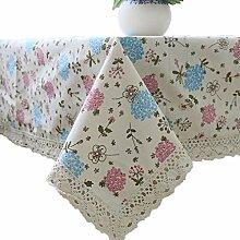 Tischdecke,Leinen Baumwolle Kleine Frische Muster