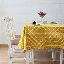 Tischdecke Leinen Rechteckig Einfacher Stil Twill