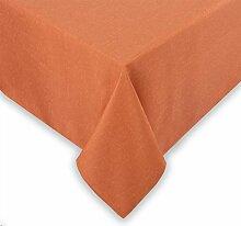 Tischdecke Leinenoptik, Lotus Effekt schmutzabweisend wasserabweisend, oval 135x180 cm, Orange, Farbe wählbar