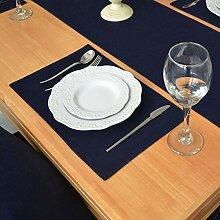 Tischdecke Marineblau Baumwolle Tischdecke