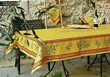 Tischdecke Maussane, gelb-Cotto Oliven, ca.