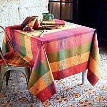 Tischdecke Mille Alcees Litchi beschichtet 135 x 175 cm