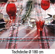 Tischdecke MILLE NOEL CHALET D: 180 cm - (24196)
