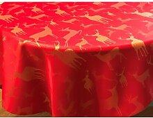 Tischdecke Milledgeville Alpen Home Farbe: Rot und