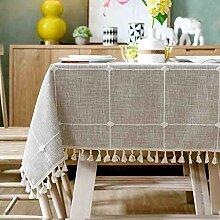 Tischdecke Minimalist Plaid Stoff Baumwolle Leinen