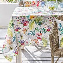 Tischdecke mit exotisch bunten Tropenmotiven