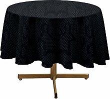 Tischdecke mit Fleckschutz rund 180 cm SNAKE anthrazi