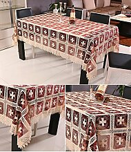 Tischdecke mit Garn Translucent Stickerei Hohl
