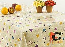 Tischdecke mit Harzschicht Position Amour 140x140 Amour