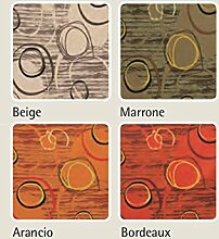 Tischdecke mit Harzschicht Typ Canyon 140x140 braun