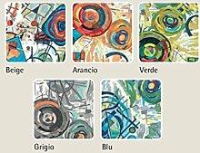 Tischdecke mit Harzschicht Typ Picture 140x140 blau