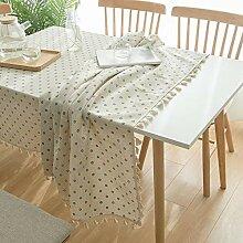 Tischdecke mit Quaste, Waschbar Tischdecke aus