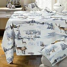 Tischdecke mit verträumter Winterlandschaft