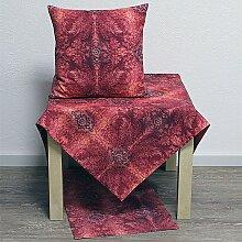 Tischdecke Mitteldecke Barroc Ornamente rot