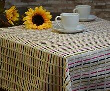 Tischdecke Mitteldecke Baumwolle Modernes Design 85 x 85 cm Ecru/Pink