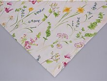 Tischdecke, Mitteldecke BLUMENWIESE bunt Baumwolle 110x110cm Hossner (17,95 EUR / Stück)