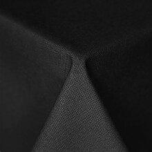 Tischdecke Mitteldecke eckig 135x220cm beschichtete Baumwolle fleckenabweisend Lotuseffekt anthrazi