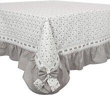 Tischdecke, Mitteldecke HERZEN mit Schleife,180x130, grau, Angelica Home (72,50 EUR / Stück)