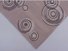 Tischdecke Mitteldecke LUGAU KREISE 85x85cm grau