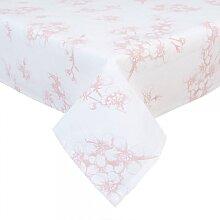 Tischdecke, Mitteldecke ORCHIDEEN weiß rosa 100x100cm Clayre & Eef (17,95 EUR / Stück)
