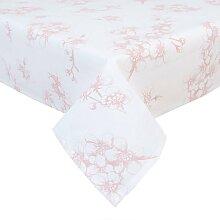 Tischdecke, Mitteldecke ORCHIDEEN weiß rosa