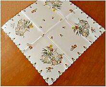 Tischdecke Mitteldecke Osterdecke Ostern Osterhasen Eierschale 85 x 85 cm