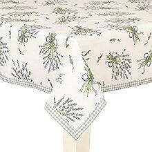 Tischdecke, Mitteldecke, Tafelkleid LAVENDEL weiß 100x100cm Clayre & Eef