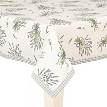 Tischdecke, Mitteldecke, Tafelkleid LAVENDEL weiß 100x100cm Clayre & Eef (21,50 EUR / Stück)