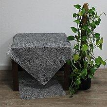 Tischdecke, Mitteldecke TRENTO, Netzoptik, 90x90cm, silber, Hossner (18,95 EUR / Stück)