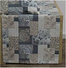 Tischdecke, Mitteldecke VERONA 85x85cm Landhausstil grau braun Hossner (12,50 EUR / Stück)