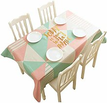 Tischdecke Modern minimalistisch Baumwolle Leinen