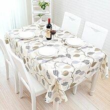 Tischdecke, modern, schwarz und weiß Tisch Matte, Tischdecke, Koreanischer Garten, frische kleine PVC, Kunststoff wasserfest, Öl, Chiba, 137 * 160 cm,