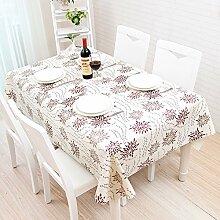 Tischdecke, modern, schwarz und weiß Tisch Matte, Tischdecke, Koreanischer Garten, frische kleine PVC, Kunststoff wasserfest, Öl, Curry, 137 * 170 cm,