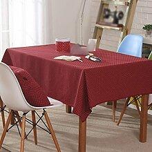 Tischdecke, moderne Dichte Punkte Frische Couchtisch Esstisch Tuch Rechteck ( größe : 90x140cm )