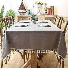 Tischdecke Nordic Wasserdichte Plain Fringe Lace