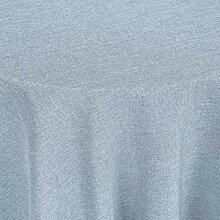 Tischdecke Nova rund, 160 cm (Ø), rauchblau
